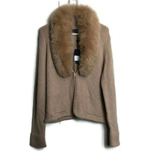 Magaschoni Fox Fur Cashmere Sweater